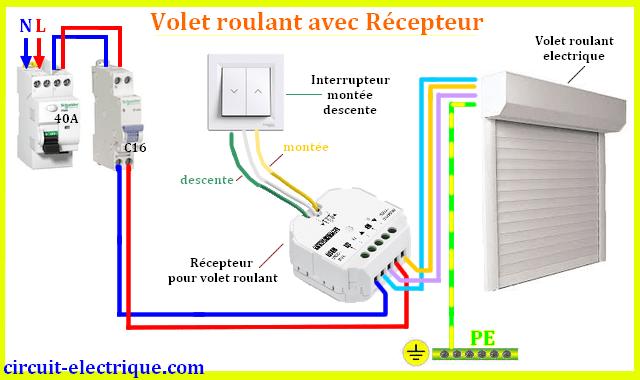 branchement volet roulant electrique circuit electrique. Black Bedroom Furniture Sets. Home Design Ideas