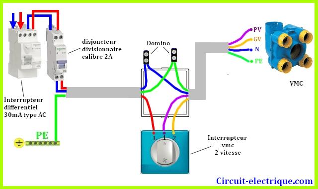 schema de branchement vmc simple double flux circuit electrique schema branchement cablage. Black Bedroom Furniture Sets. Home Design Ideas