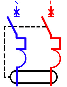 schema de branchement et cablage disjoncteur différentiel symbole   legrand schneider hager abb