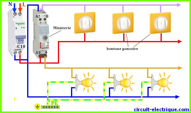 schema branchement cablage muniterie