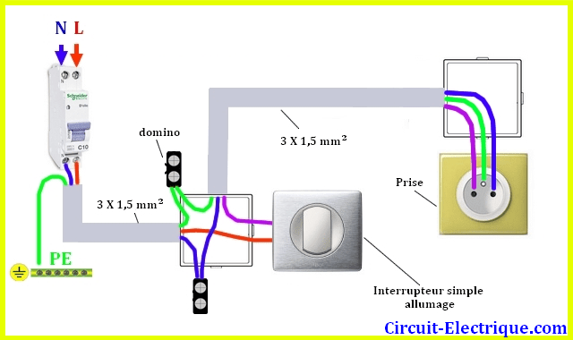 branchement electrique archives page 3 sur 4 circuit electrique. Black Bedroom Furniture Sets. Home Design Ideas